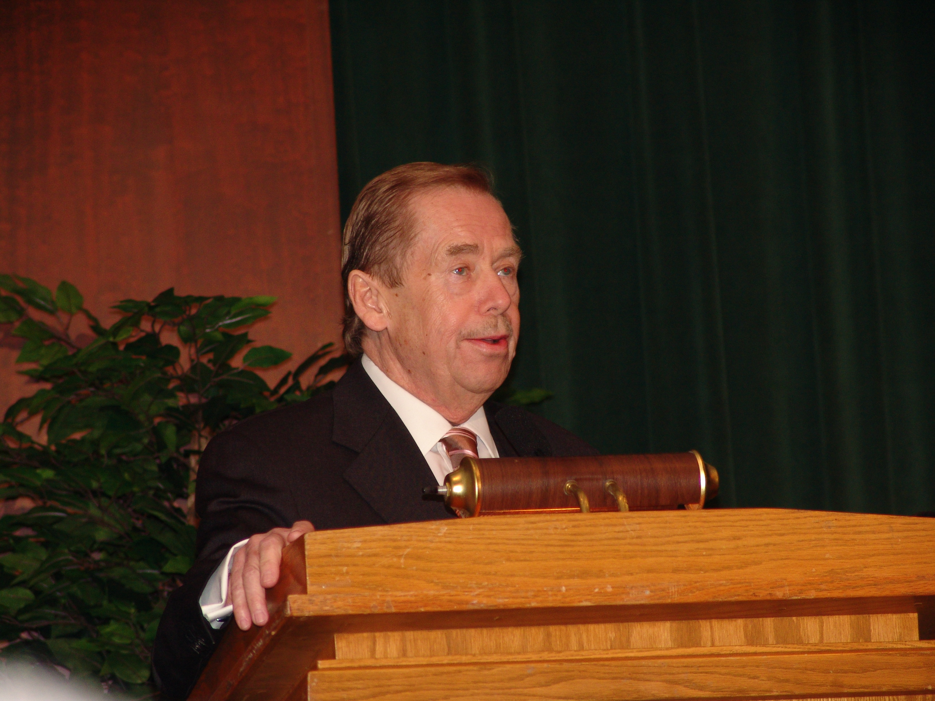 Václav Havel at the Library of Congress, 2007