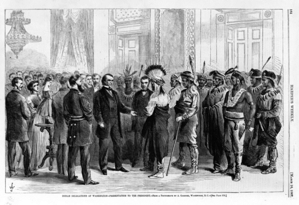 Indian delegations at Washington, March 16, 1867