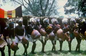 Acholi men dancing
