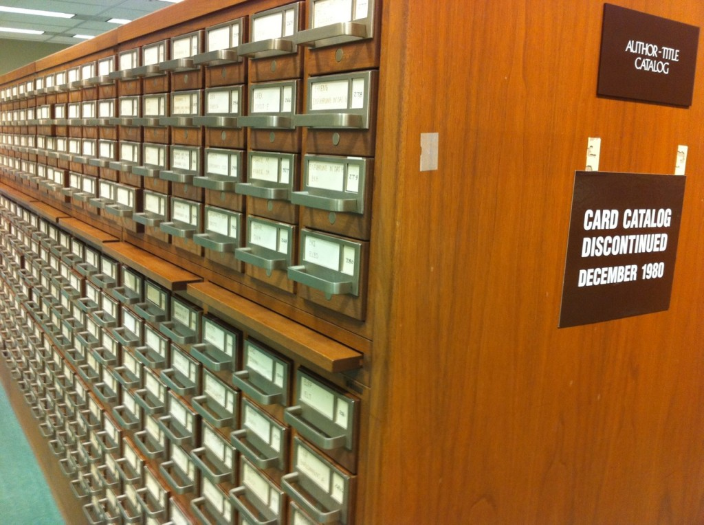 Do you remember how to use a card catalog? in custodia legis.