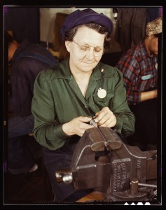 Woman working in a factory