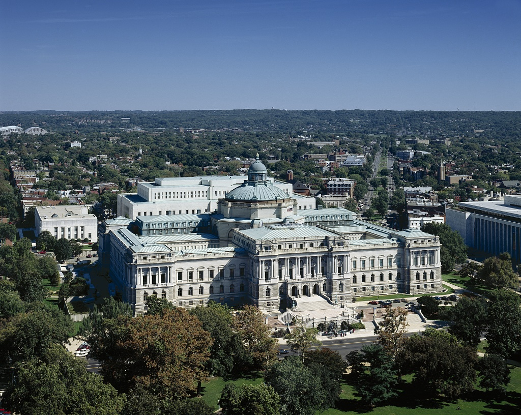 The Library of Congress Thomas Jefferson Building, as seen from the Capitol dome. [Source: Prints and Photographs Division]
