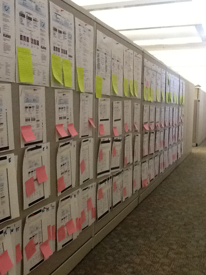 Congress.gov Testing Feedback Wall (photo by Jill MacNeice)