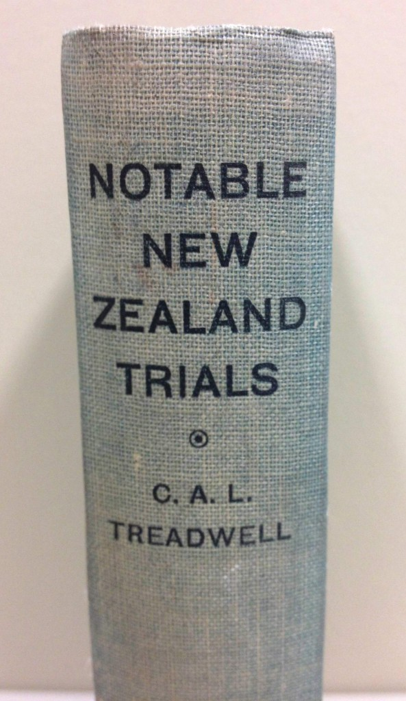 C.A.L. Treadwell, Notable New Zealand Trials (1936).
