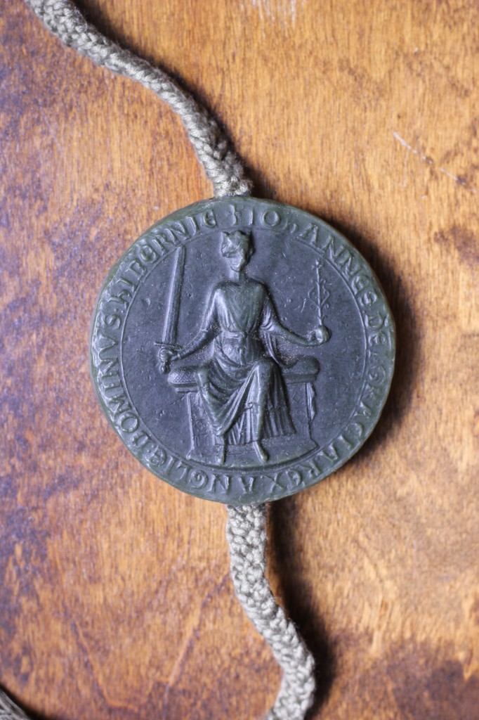 The obverse of the King John seal.