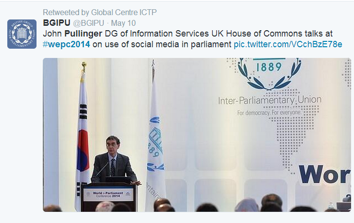 Twitter Post of John Pullinger's presentation