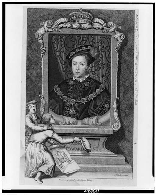 Edward VI, King of England, half-length portrait, facing slightly left / George Vertue