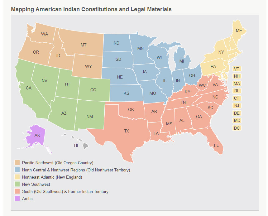 The Law Library of Congress Indigenous Law Portal Map