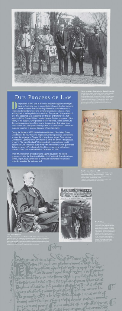 ABA MagnaCarta Traveling Exhibition Banner: Due Process of Law