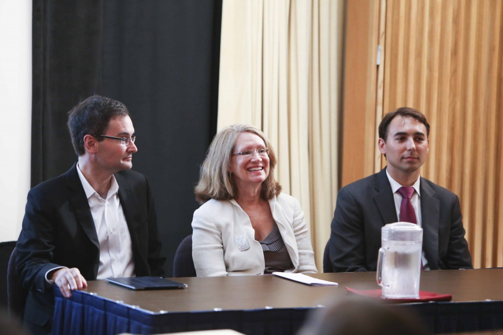 Panelists from Left to Right: Stephen Wesson, Holly Krueger, and Nathan Dorn. Photo Source: Amanda Reynolds.