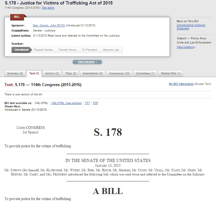 The default bill text is now the XML/HTML version.