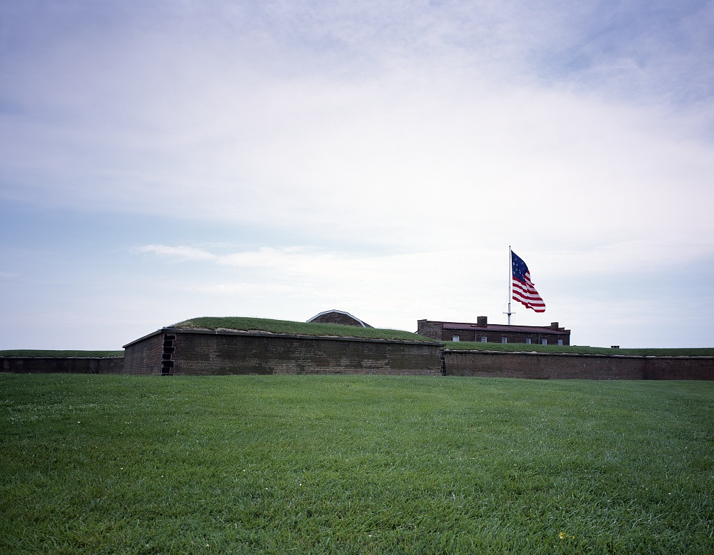 "Fort McHenry, where the ""Star-Spangled Banner"" was inspired by a battle in the War of 1812. Baltimore, Maryland. Carol Highsmith."