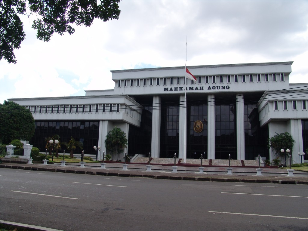 Supreme Court, Jakarta, Indonesia (Photo by Flickr user Bentley Smith, Apr. 2006).  Used under Creative Commons license, https://creativecommons.org/licenses/by-nc-nd/2.0/.