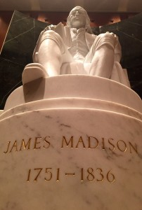 James Madison, one author of the Federalist Papers, in the Library of Congress