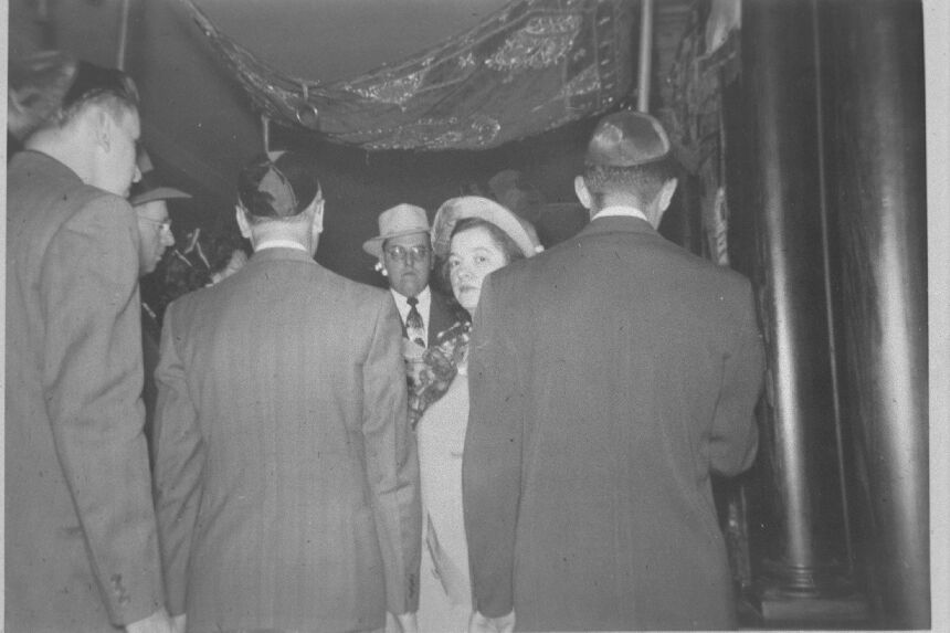 Wedding; Unidentified Couple; Under the Chuppah. (Center for Jewish History, NYC Flickr page)