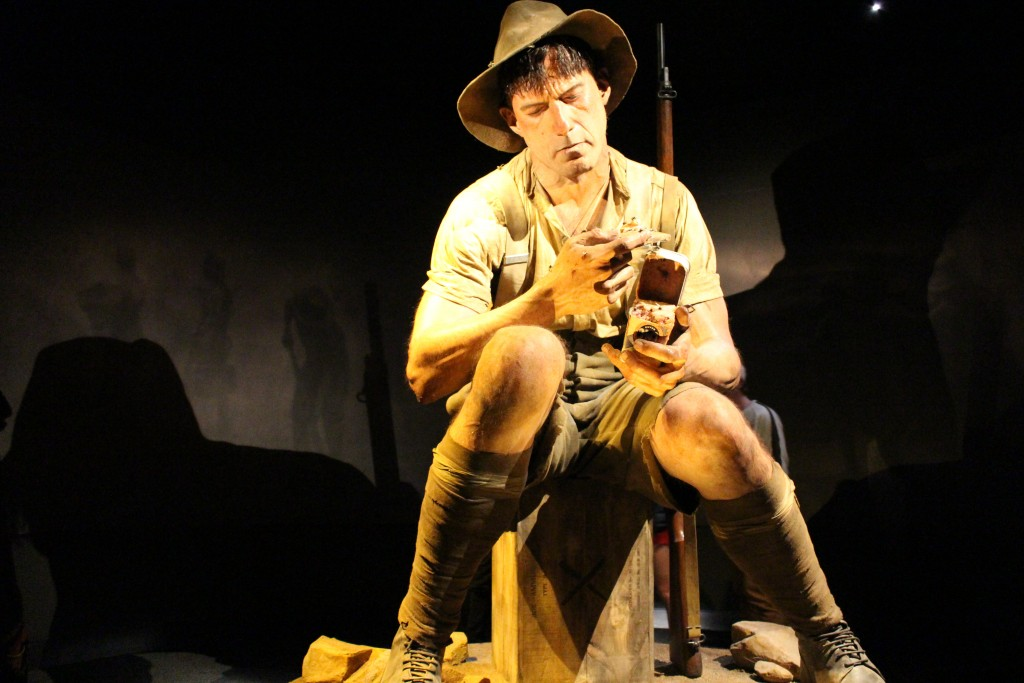 Model of Jack Dunn in the exhibit Gallipoli: The Scale of Our War, at Te Papa Tongarewa. (Photo by Flickr user Gurtej Singh, Aug. 27, 2015; used under Creative Commons license, https://creativecommons.org/licenses/by-nd/2.0/.)