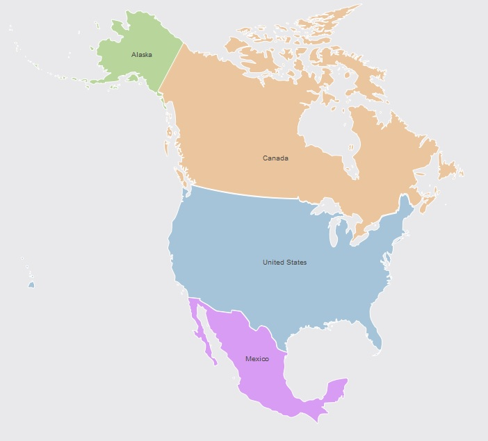 map of north america from the indigenous law portal