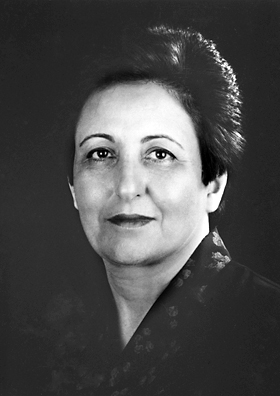 Shirin Ebadi. Photo from the Official Website of the Nobel Prize, http://www.nobelprize.org/nobel_prizes/peace/laureates/2003/ebadi-facts.html.