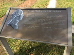 George Washington birthplace sign. Photo by Fernando O. Gonzalez.