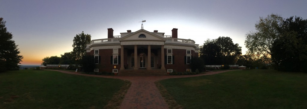 View towards house from garden of Monticello. Photo by Fernando O. Gonzalez.