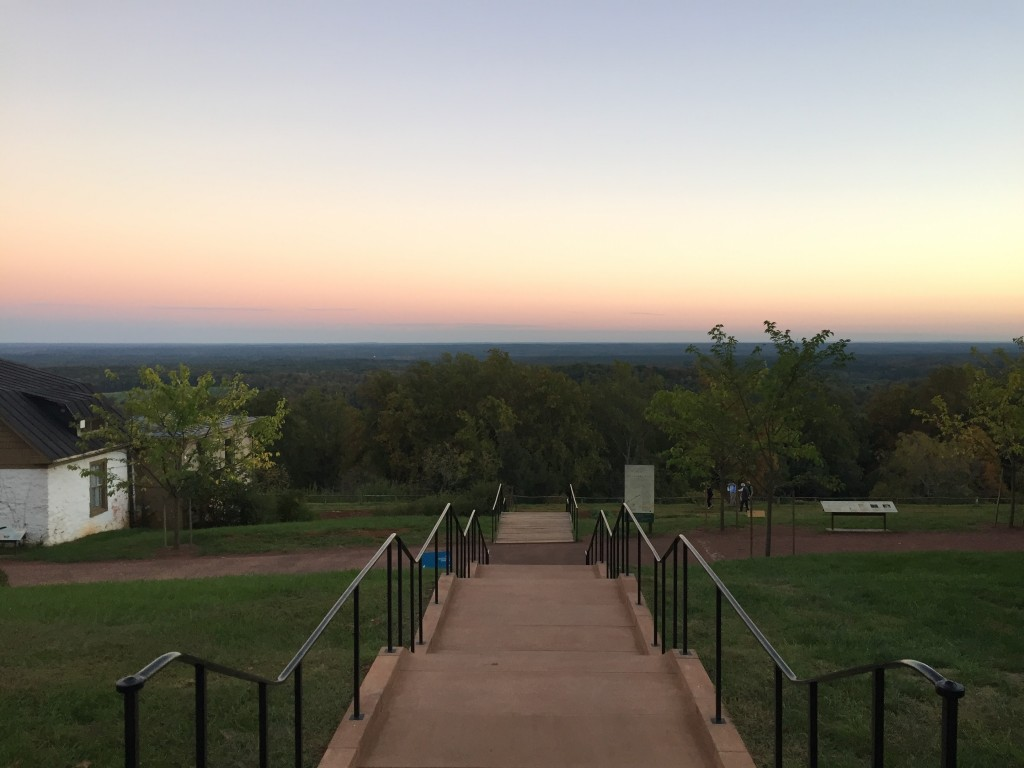 View from Monticello at sunset. Photo by Fernando O. Gonzalez.