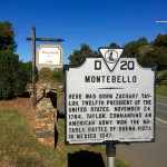 Roadside sign of Montebello, birthplace of Zachary Taylor. Photo by Fernando O. Gonzalez.