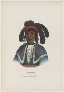 Print shows portrait of Micanopy in traditional dress from painting by Charles Bird King for History of the Indian tribes of North America... / By Thomas L. M'Kenney and James Hall, 1836-1844.