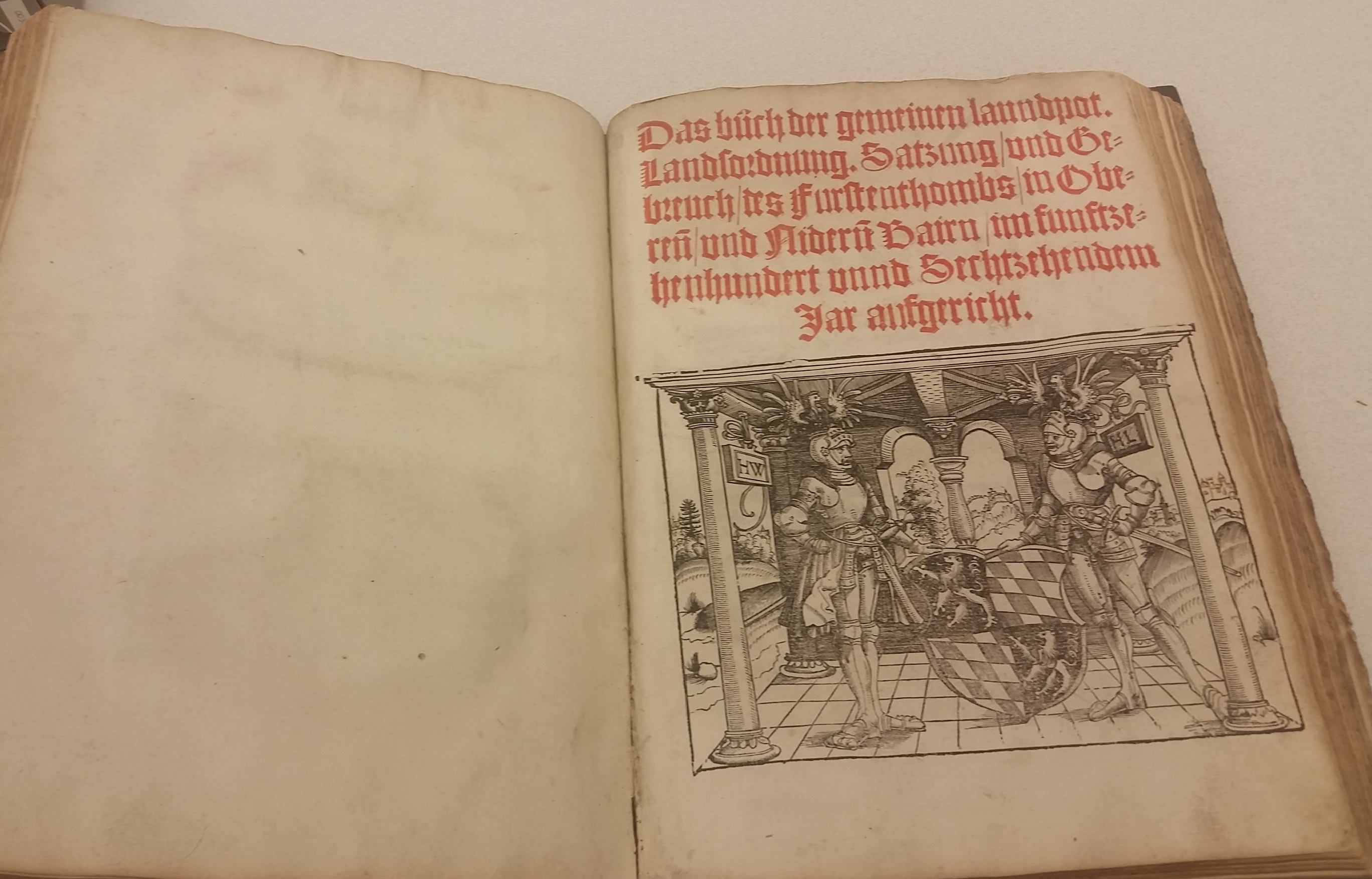 Title Page of the General Ordinance for Bavaria from 1516. /Photograph by Jenny Gesley. //lccn.loc.gov/2009672521