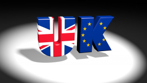 UK/EU text logo with Union Jack and European flag images. (Photo by Flickr user Rareclass, June 5, 2016). Used under Creative Commons License 2.0, https://creativecommons.org/licenses/by-nc-nd/2.0/.