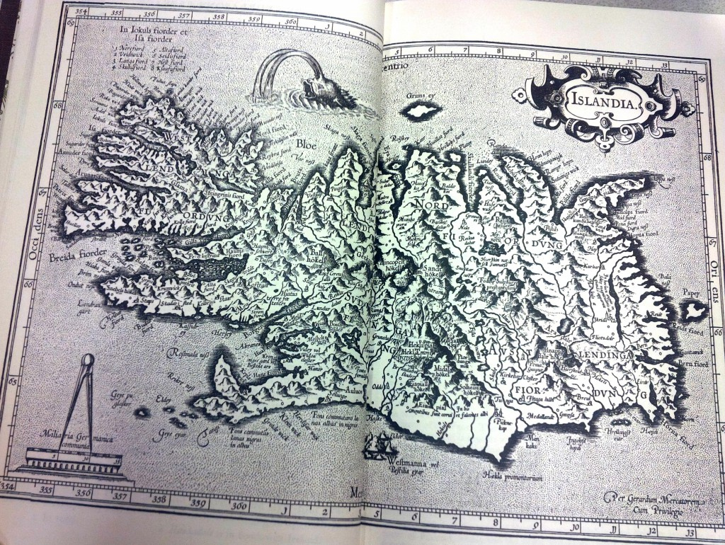 Map of Iceland, from Heimskringla, or the Lives of the Norse Kings by Snorre Sturlason (1990 translation).