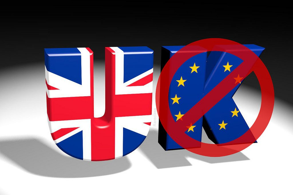 BREXIT Leave. UK EU Leave logo. Photo by Flickr user Rareclass. June 5, 2016. Used under Creative Commons License 2.0, https://creativecommons.org/licenses/by-nc-nd/2.0/.