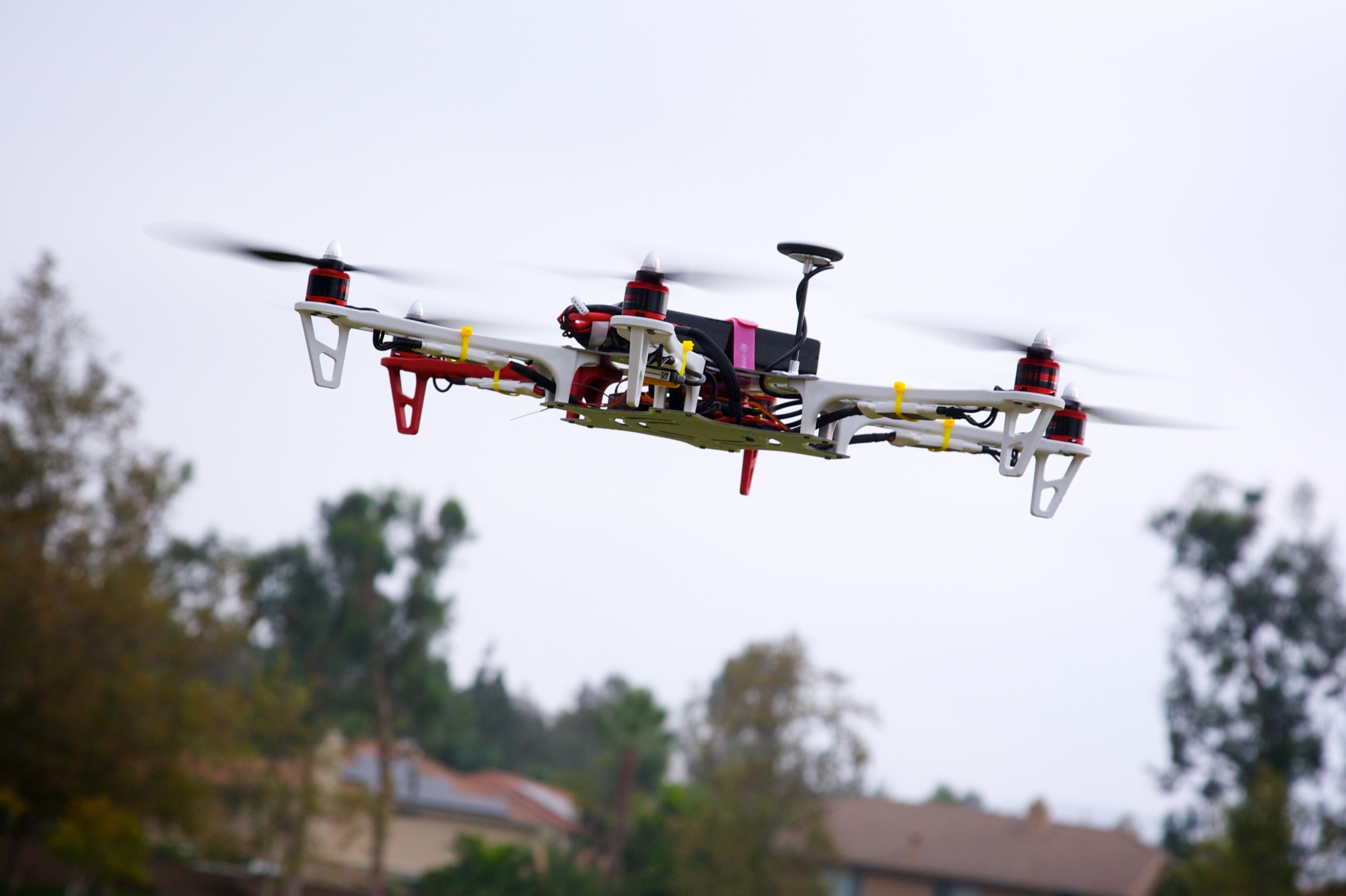 Drone first test flight. (Photo by Flickr user Richard Unten, Aug. 5, 2013). Used under Creative Commons License, https://creativecommons.org/licenses/by/2.0/.
