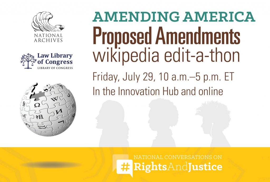 Proposed Amendments Wikipedia Edit-a-thon
