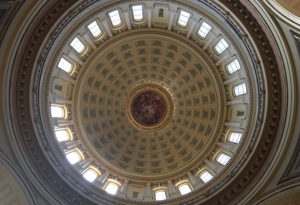 Looking up in the Capitol Rotunda / Photograph by Andrew Weber