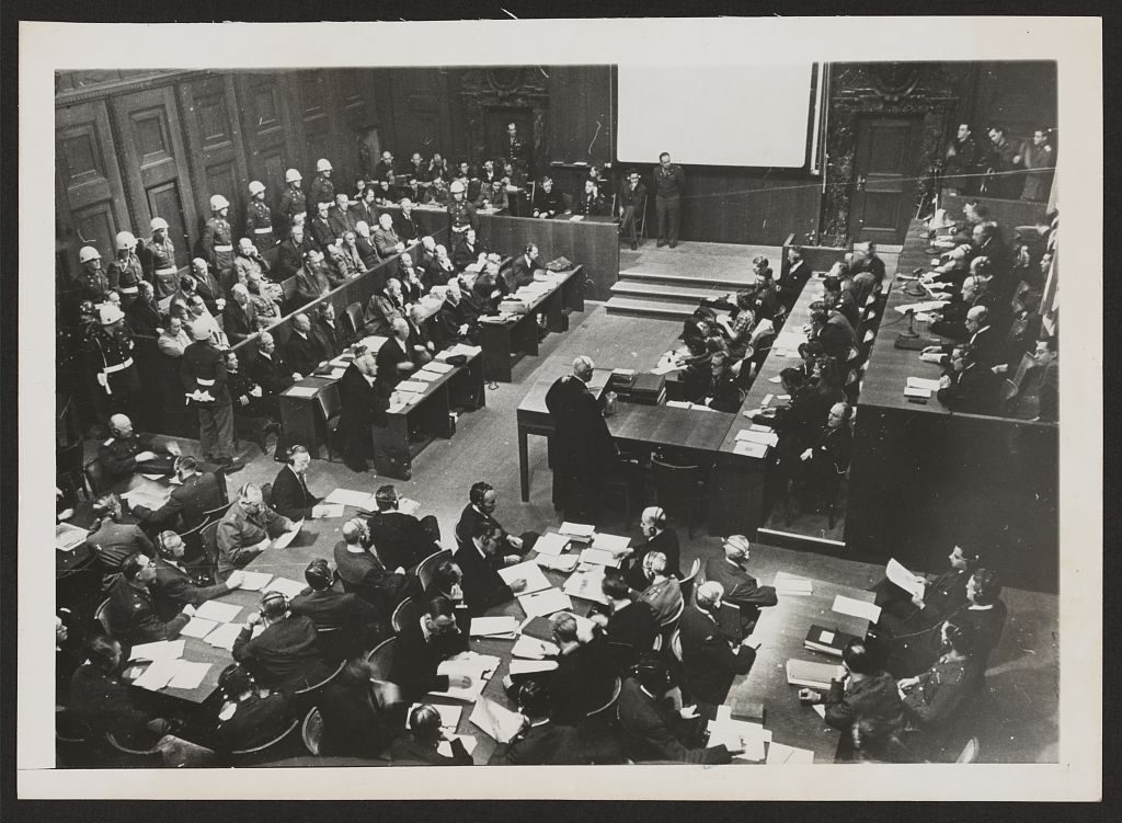 Nuernberg [i.e., Nuremberg] trials in session. November 27, 1945. Library of Congress, Prints & Photographs Division, NYWT&S Collection, LC-DIG-ppmsca-19290. //hdl.loc.gov/loc.pnp/ppmsca.19290
