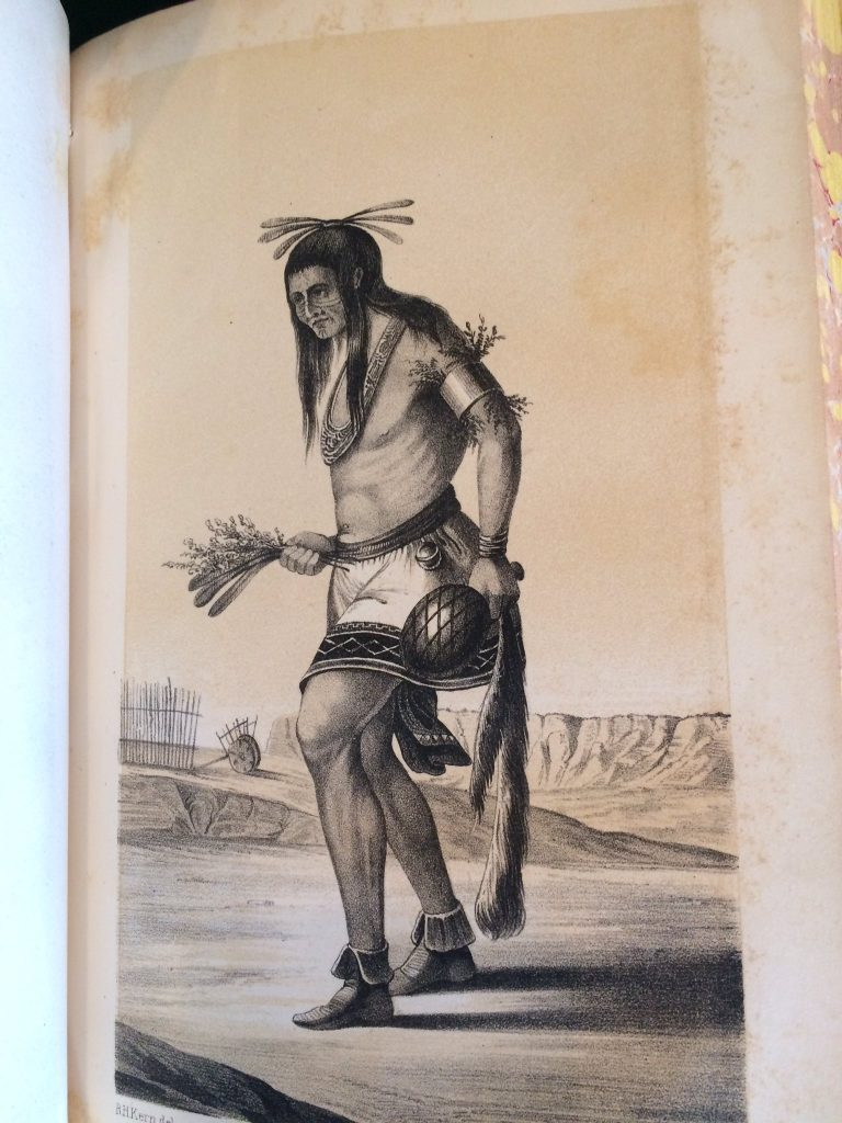 Photo of a drawing of a Native American in the U.S. Serial Set.