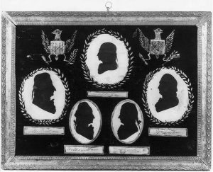 Peale's silhouettes of Georgia delegates to the Constitutional Convention, 1787. Photograph by Major H. Wyant (Created in 1937). Library of Congress Prints and Photographs Reading Room. //hdl.loc.gov/loc.pnp/cph.3a42686