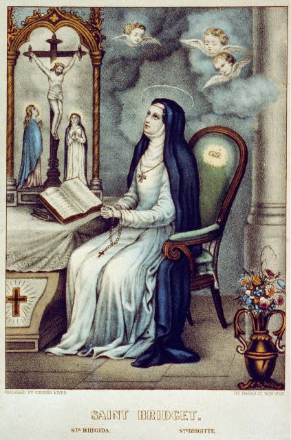 Saint Bridget: Sta Brigida/ Ste. Brigitte, New York: Published by Currier & Ives, [between 1856 and 1907], Library of Congress Prints and Photographs Division Washington, D.C. 20540 USA