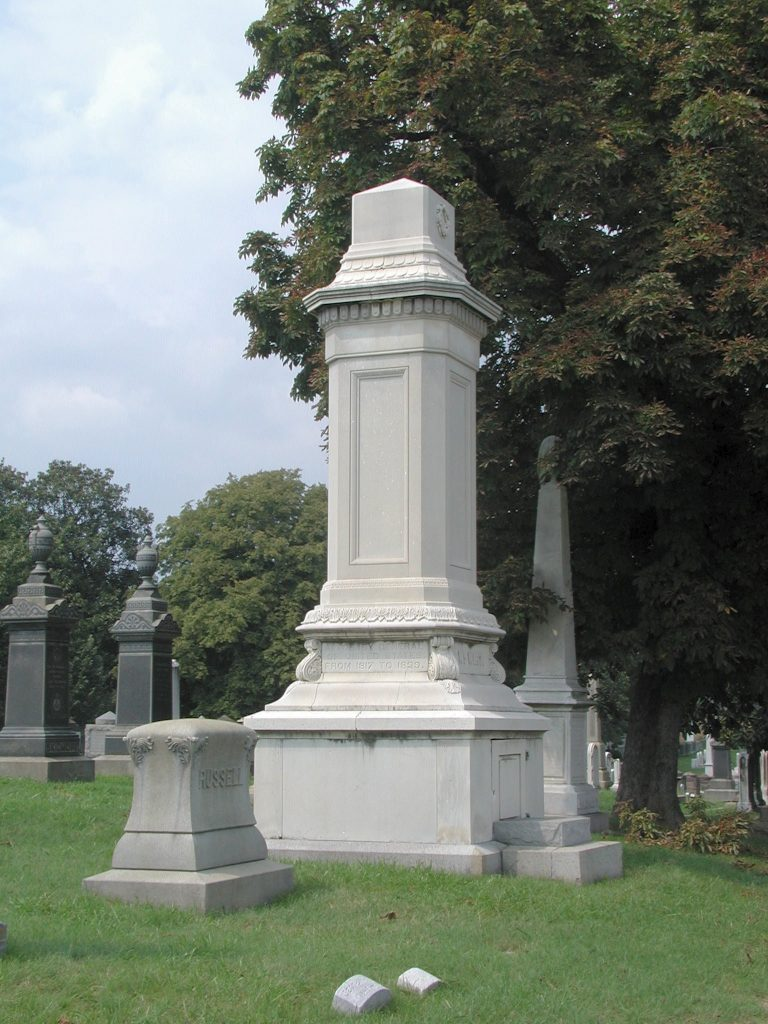 The Wirt Monument in the Congressional Cemetery. Photo by Rebecca Roberts.