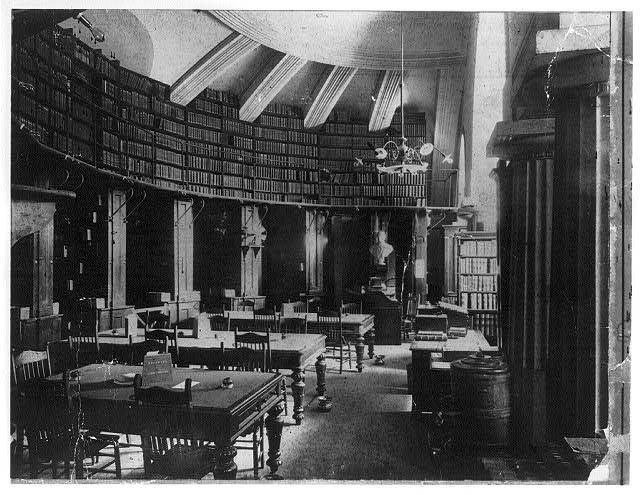 Law Library of the Library of Congress in the U.S. Capitol, Washington, D.C. 1895. Photograph. Library of Congress Prints and Photographs Division, //hdl.loc.gov/loc.pnp/cph.3b08826