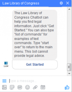 The Law Library of Congress Chatbot.
