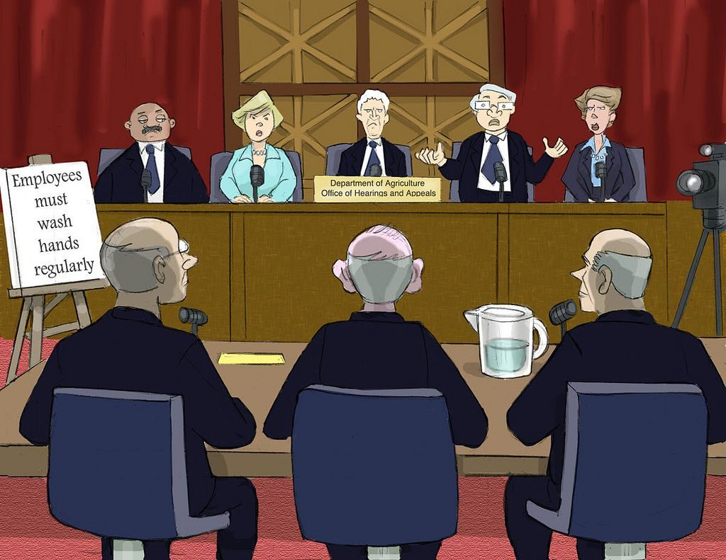 Congressional Hearing, Illustration from a CALI Lesson by Eric Molinsky (August 17, 2011 ). Source: Flickr account of CALI - Center for Computer-Assisted Legal Instruction. Used under Creative Commons License, https://creativecommons.org/licenses/by-nc-sa/2.0/.