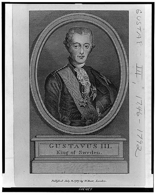 Gustavus III, King of Sweden, Library of Congress Prints and Photographs Division Washington, D.C. 20540 USA