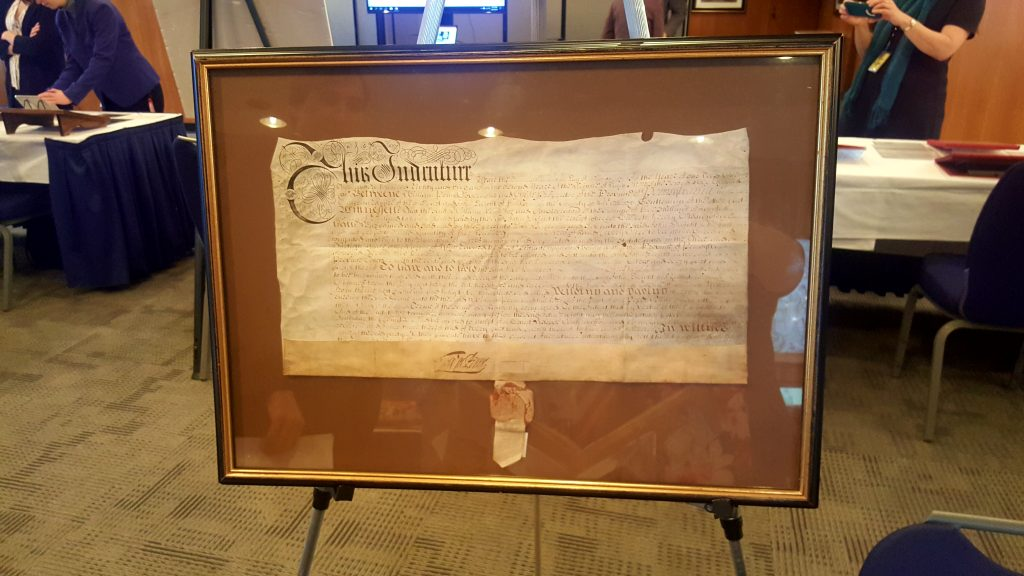A land grant from William Penn. Photo by Barbara Bavis.