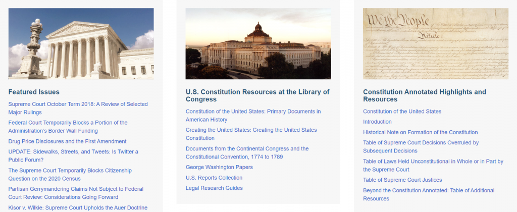 Constitution Annotated Highlights and Resources.
