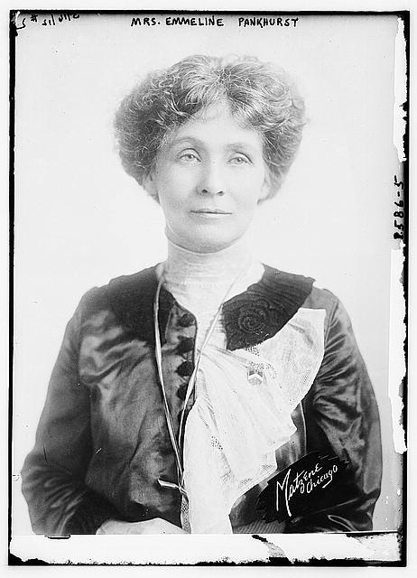 Mrs. Emmeline Pankhurst. Bain News Service. 1912. Courtesy of the Library of Congress Prints and Photographs Division. //hdl.loc.gov/loc.pnp/ggbain.12112