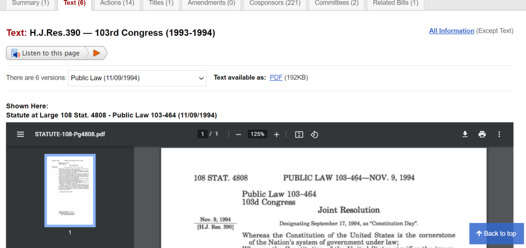 The United States Statutes at Large from the 93rd to 103rd Congresses (1973-1994) are now available on Congress.gov.