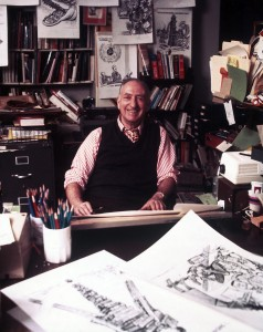 "Famed editorial cartoonist Herb Block (""Herblock"")."