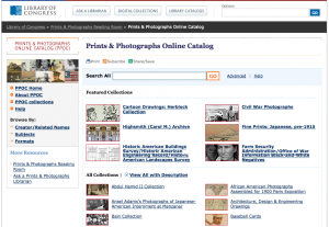The Library of Congress Prints and Photographs Online Catalog, version 2.0