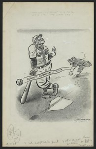 "Herblock's take on ""Casey at the Bat"""